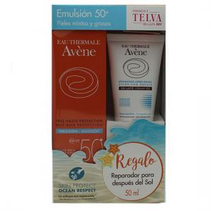 avene pack emulsion spf50 50 ml + aftersun reparador 50 ml