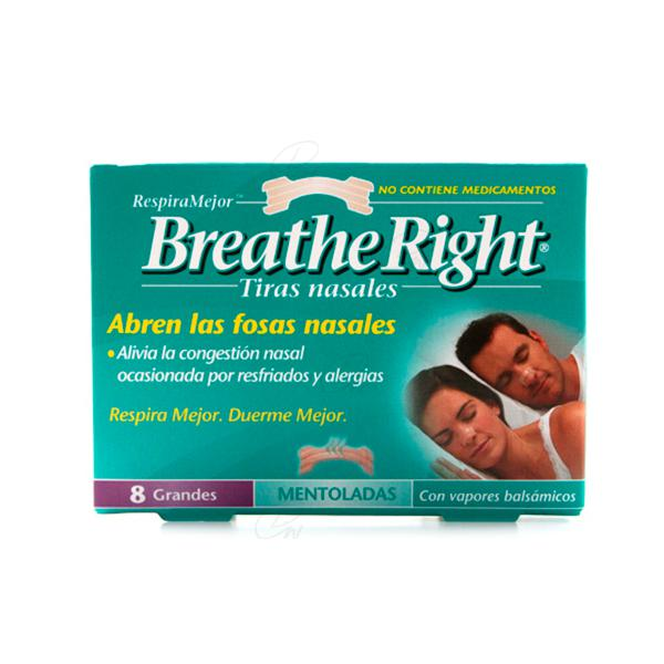 breathe right tiras mentoladas 8 tiras grandes